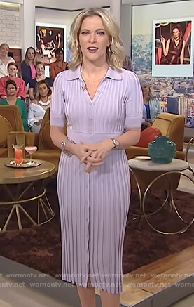 Megyn's purple ribbed dress on Megyn Kelly Today