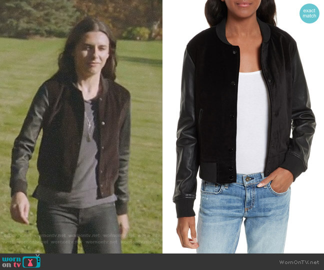 'Camden' Jacket by Rag and Bone worn by Jules Langmore (Marianne Rendon) on Imposters