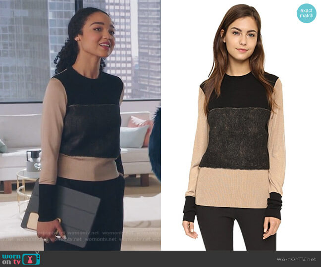 Marissa Crew Sweater by Rag and Bone worn by Kat Edison (Aisha Dee) on The Bold Type