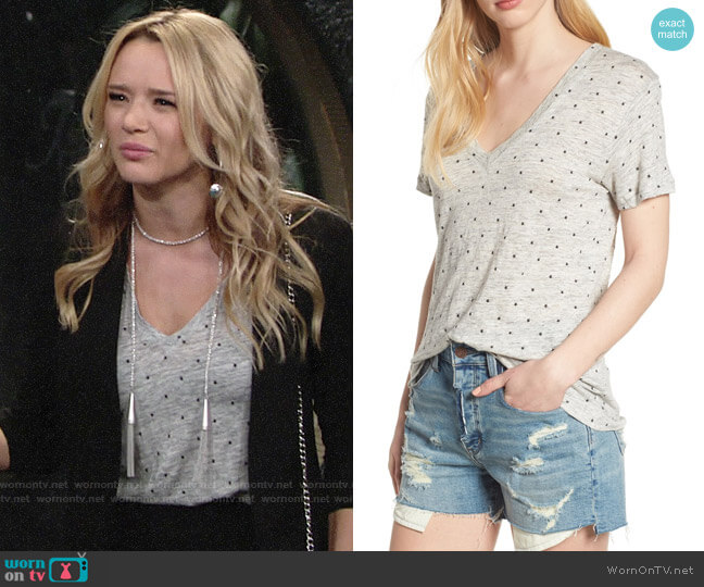 Rails Cara Star Print Tee worn by Hunter King on The Young & the Restless