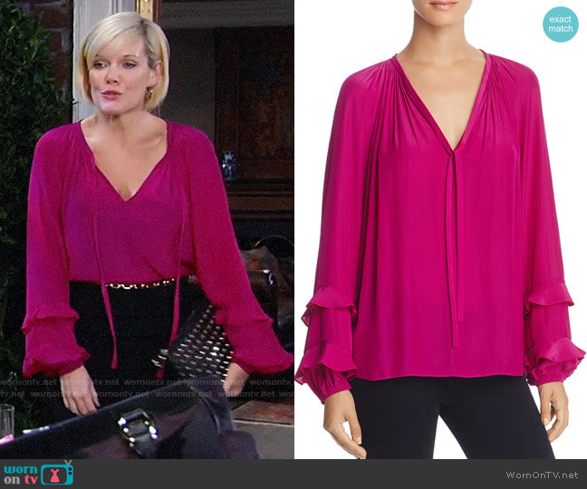 Ramy Brook Anna Top worn by Ava Jerome (Maura West) on General Hospital