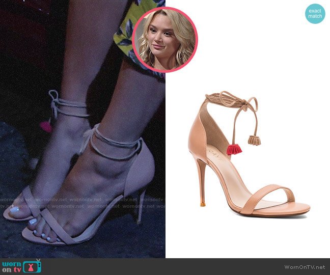 Raye Betsey Sandals worn by Summer Newman (Hunter King) on The Young & the Restless