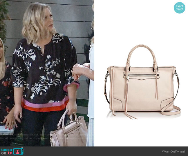 Rebecca Minkoff Regan Satchel worn by Maxie Jones (Kirsten Storms) on General Hospital