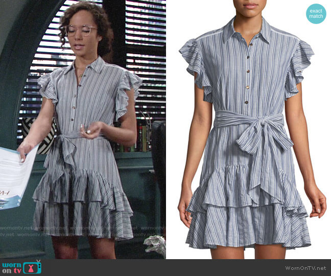 Rebecca Taylor Yarn-Dyed Striped Dress worn by Lexie Stevenson on The Young & the Restless