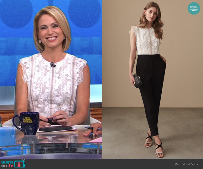 'Suzy' Jumpsuit by Reiss worn by Amy Robach on Good Morning America