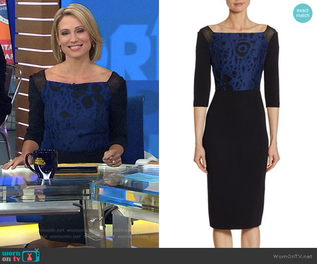 'Newark' Sheath Dress by Roland Mouret worn by Amy Robach on Good Morning America