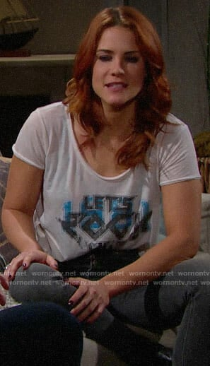 Sally's Lets Rock tee on The Bold and the Beautiful