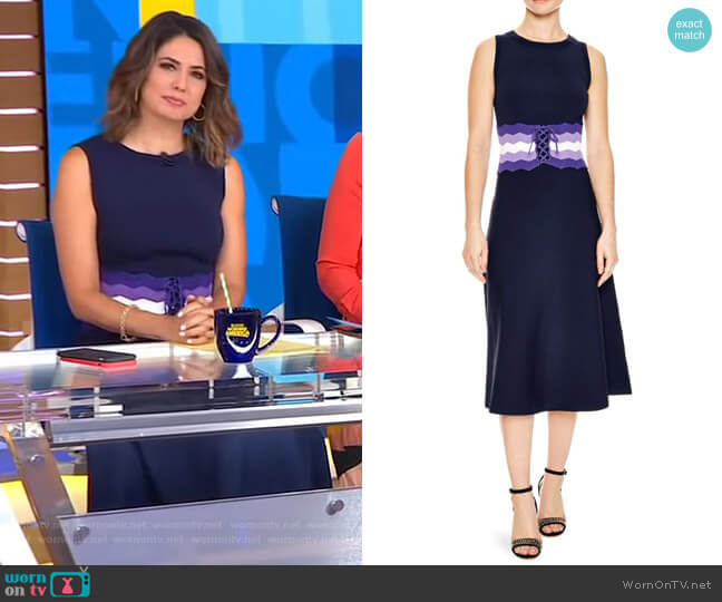 'Kimiko' Dress by Sandro worn by Cecilia Vega on Good Morning America