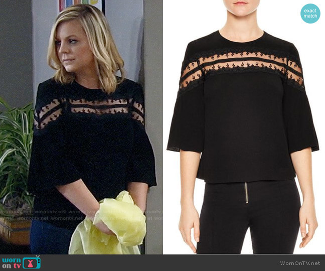 Sandro Adina Top worn by Kirsten Storms on General Hospital