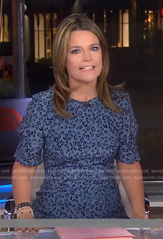 Savannah's blue leopard print dress on Today