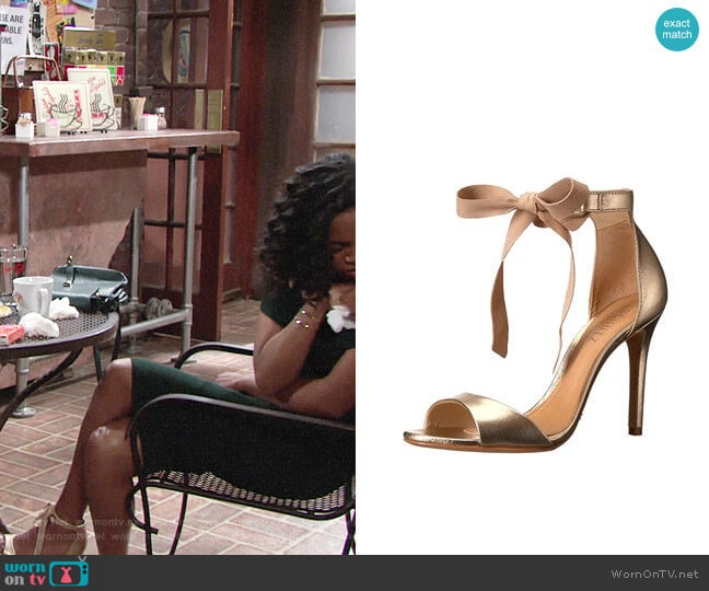 Schutz Rene Sandals worn by Hilary Curtis (Mishael Morgan) on The Young & the Restless