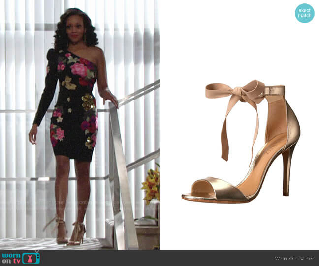 Schutz Rene Sandals worn by Mishael Morgan on The Young & the Restless