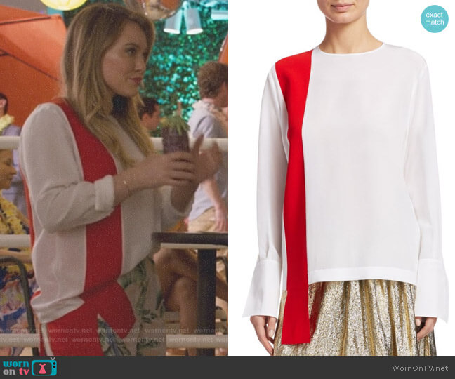 Ribbon Front Top by Stella McCartney worn by Hilary Duff on Younger