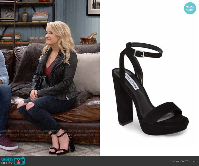 Steve Madden Insomnia Sandals worn by Emily Osment on Young & Hungry