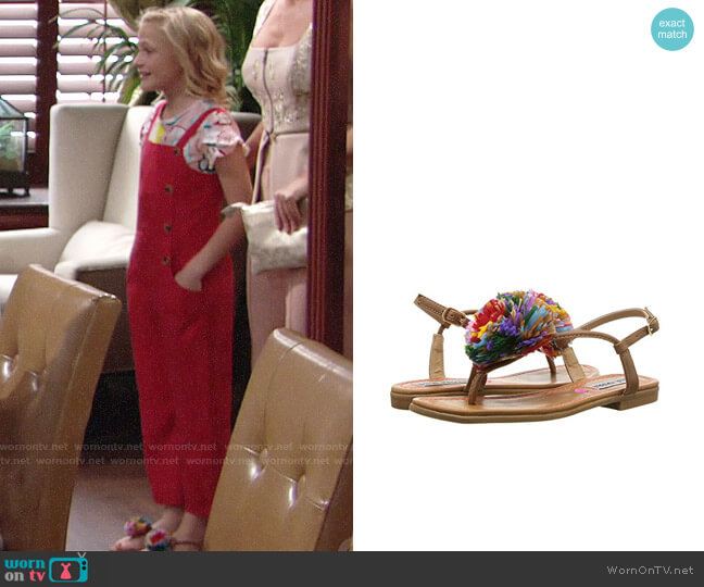 Steve Madden Jcherry Flats worn by Alyvia Alyn Lind on The Young & the Restless
