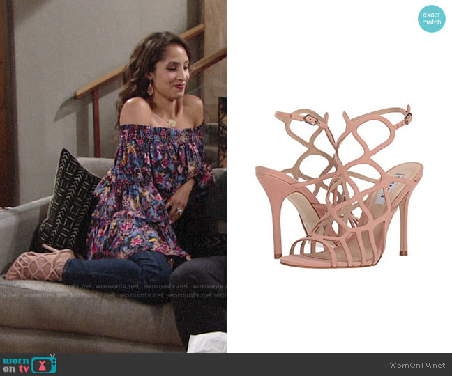 Steve Madden Teagen Sandals worn by Christel Khalil on The Young & the Restless
