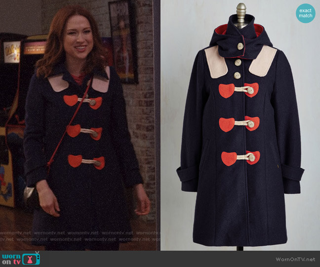 Sweet on You Coat from Modcloth worn by Ellie Kemper on Unbreakable Kimmy Schmidt