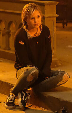 Tandy's distressed sweater and jeans on Marvel's Cloak and Dagger