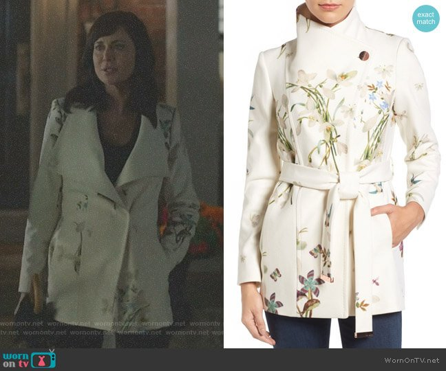 Spring Meadow Wool Blend Wrap Coat by Ted Baker worn by Cassandra Nightingale (Catherine Bell) on Good Witch