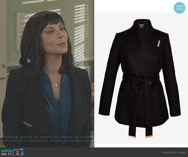 'Keyla' Coat by Ted Baker worn by Cassandra Nightingale (Catherine Bell) on Good Witch