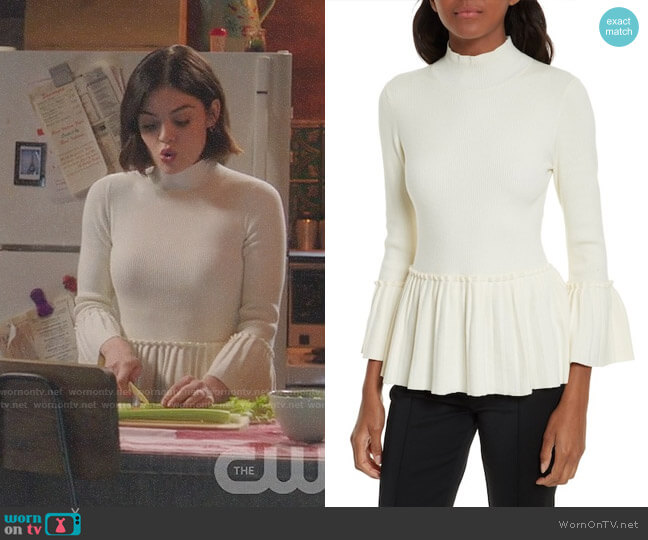 Ted Baker Lislie Sweater worn by Stella Abbott (Lucy Hale) on Life Sentence