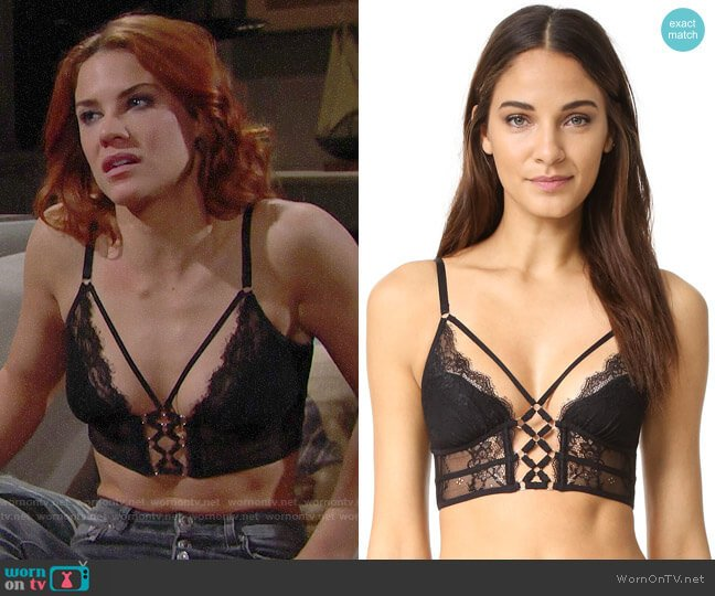 Thistle & Spire Constellation Bralette worn by Sally Spectra (Courtney Hope) on The Bold & the Beautiful