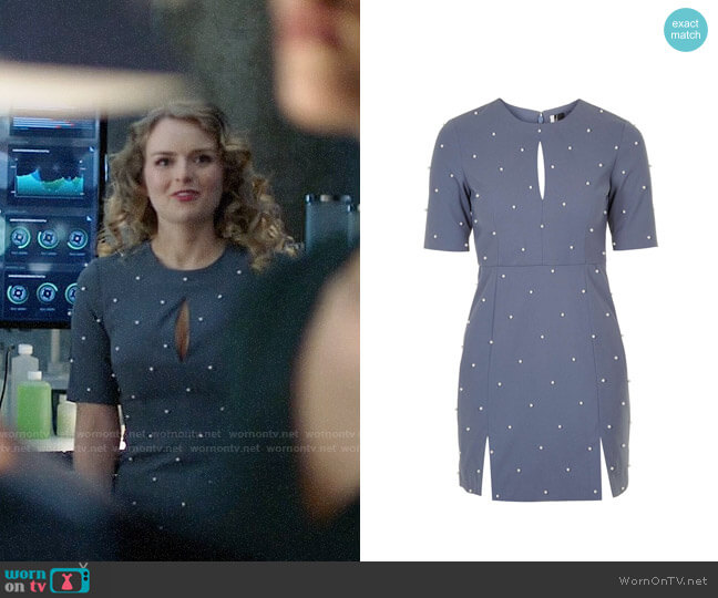 Topshop Pearl A-Line Dress worn by Andrea Brooks on Supergirl