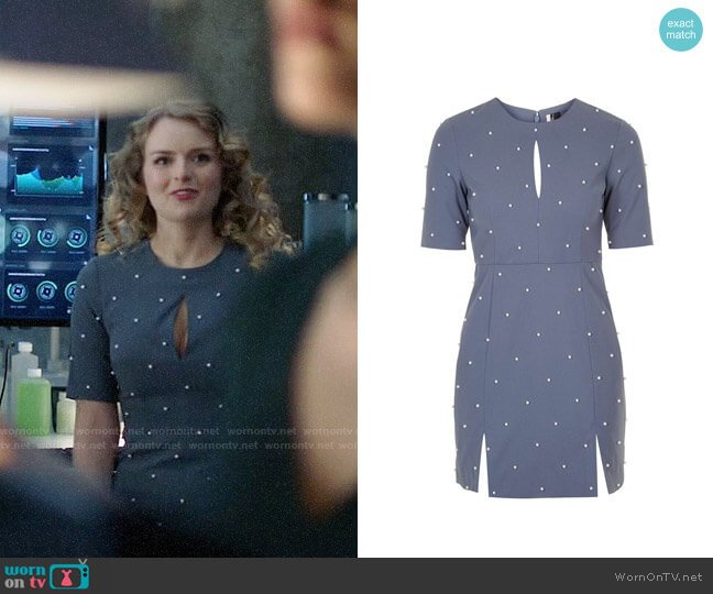 Topshop Pearl A-Line Dress worn by Eve Teschmacher (Andrea Brooks) on Supergirl