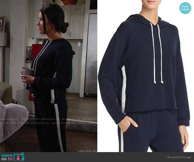 Velvet by Graham & Spencer Harden Sweatshirt and Julie Pants worn by Jacqueline MacInnes Wood on The Bold & the Beautiful