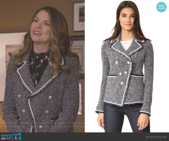 Carroll Portrait Neckline Jacket by Veronica Beard worn by Liza Miller (Sutton Foster) on Younger