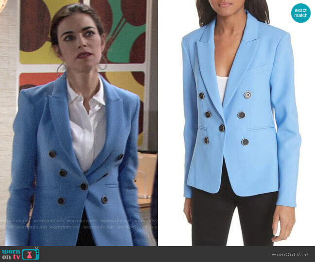 Veronica Beard Colson Blazer worn by Amelia Heinle on The Young & the Restless