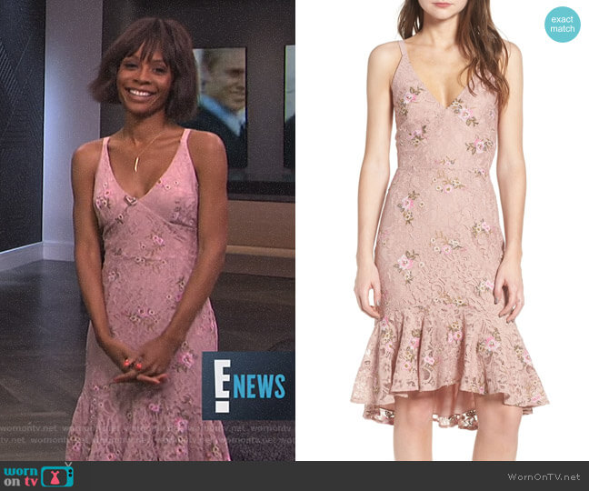 Ferrara Dress by Wayf worn by Zuri Hall on E! News