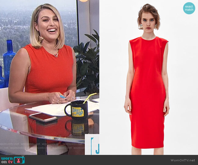 Tube Dress by Zara worn by Carissa Loethen Culiner  on E! News