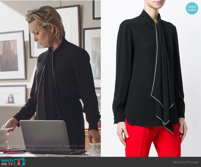 Tie-Neck Blouse by Alexander McQueen  worn by Melora Hardin on The Bold Type