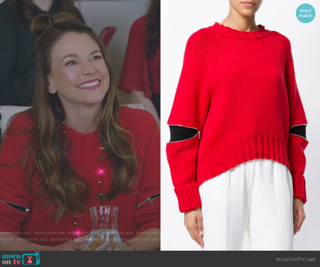 Cut-Out Detail Sweater by Alexander McQueen worn by Liza Miller (Sutton Foster) on Younger
