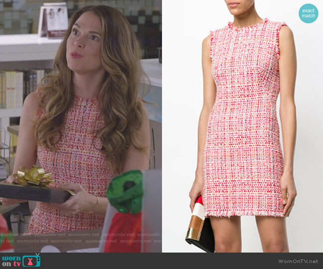 Tweed Mini Dress by Alexander McQueen worn by Liza Miller (Sutton Foster) on Younger