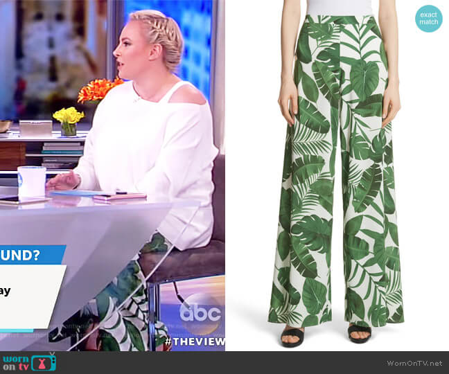 Athena Print Wide Leg Pants by Alice + Olivia worn by Meghan McCain  on The View