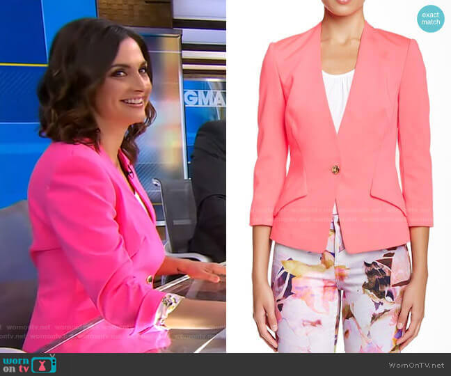 Alisya Ponte Knit Jacket by Ted Baker worn by Paula Faris  on Good Morning America