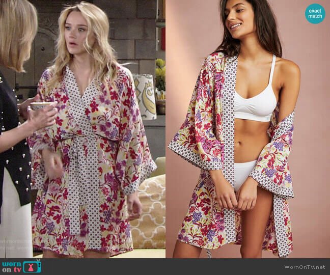 Anthropologie Northern Garden Kimono  worn by Summer Newman (Hunter King) on The Young & the Restless
