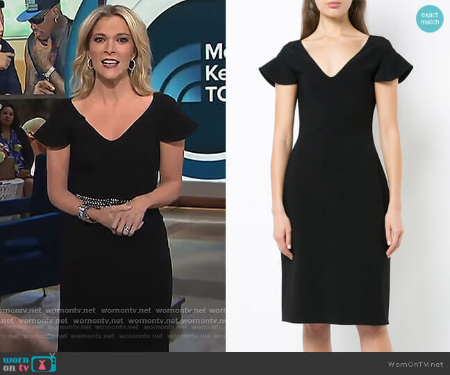 plunge neck pencil dress by Antonio Berardi worn by Megyn Kelly  on Today