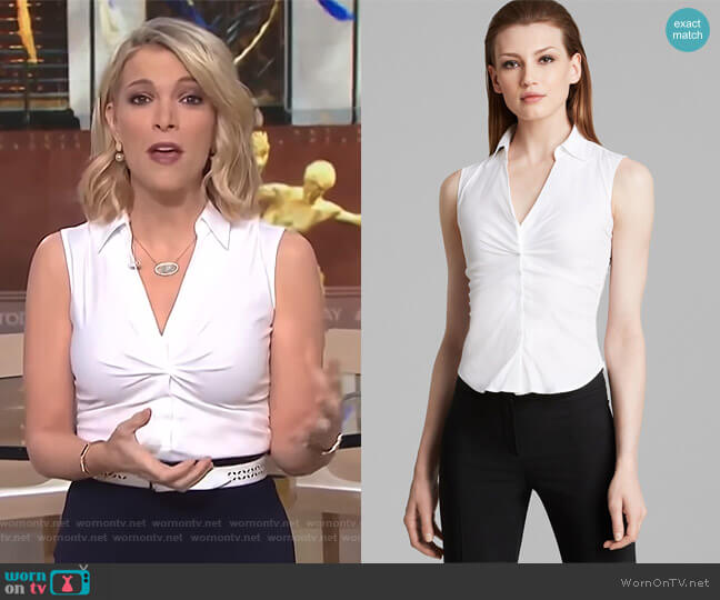 Sleeveless V Neck by Armani Collezioni worn by Megyn Kelly  on Today