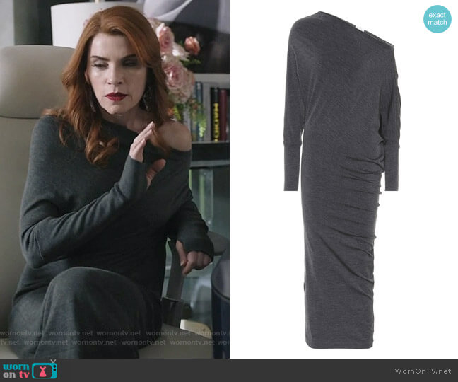 Embellished wool dress by Brunello Cucinelli worn by Kitty Montgomery (Julianna Margulies) on Dietland