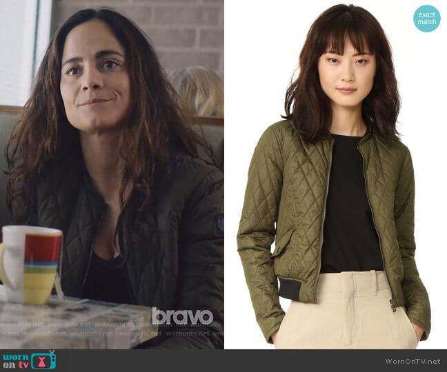 Cassell Coat by Belstaff worn by Teresa Mendoza (Alice Braga) on Queen of the South