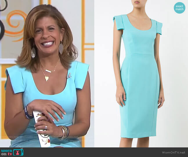 Scoop Neck Dress by Black Halo worn by Hoda Kotb (Hoda Kotb) on Today