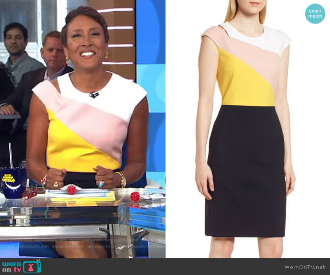 Danouk Ponte Dress by Boss worn by Robin Roberts  on Good Morning America