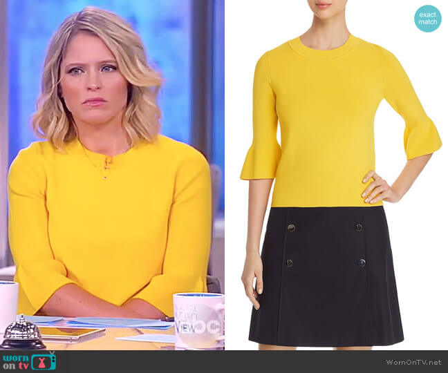 Fenella Bell-Sleeve Top by Boss worn by Sara Haines  on The View