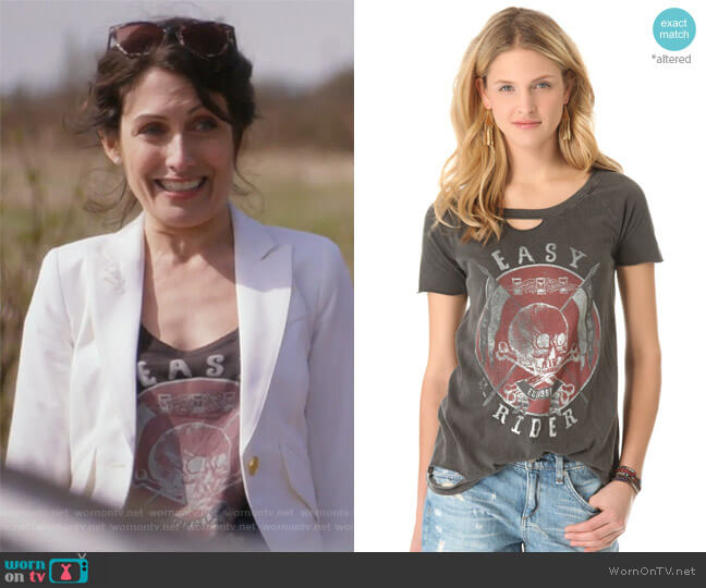 Easy Rider Deconstructed Tee by Chaser worn by Abby McCarthy (Lisa Edelstein) on GG2D