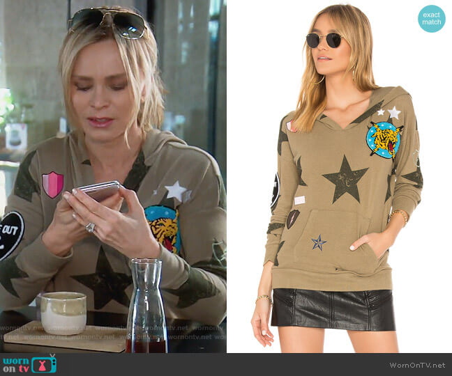Star Patch Hoodie by Chaser worn by Tamra Judge on The Real Housewives of Orange County