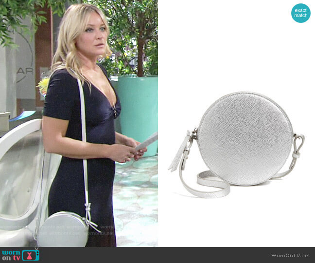 Chelsea28 Cassie Faux Leather Crossbody Bag worn by Sharon Collins (Sharon Case) on The Young & the Restless
