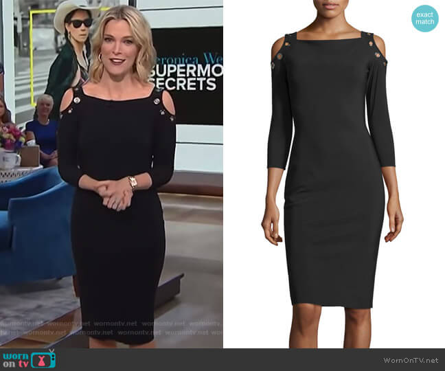 Evie Cold-Shoulder Sheath Cocktail Dress by Chiara Boni La Petite Robe worn by Megyn Kelly on Today